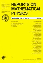 ksiazka tytuł: Reports on Mathematical Physics 67/3 autor: